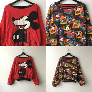 90s Vintage Reversible Graphic Sweatshirt Disney M
